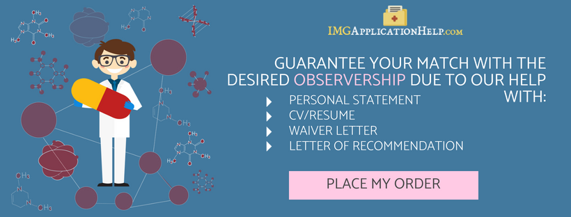 help to apply for residency observerships for img
