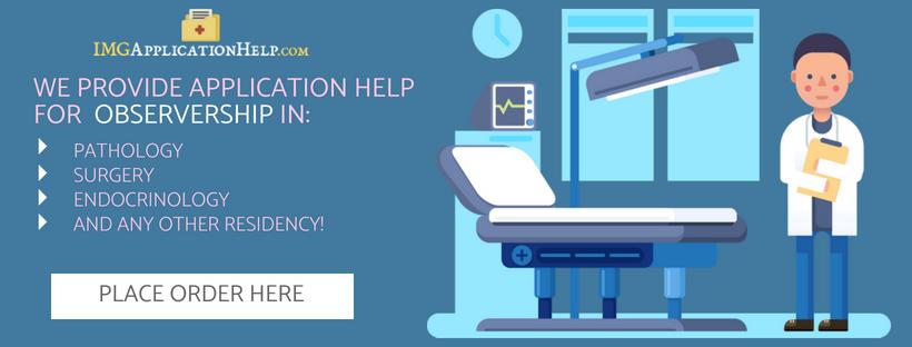 internal medicine observership img application help