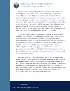 personal statement residency internal medicine img sample